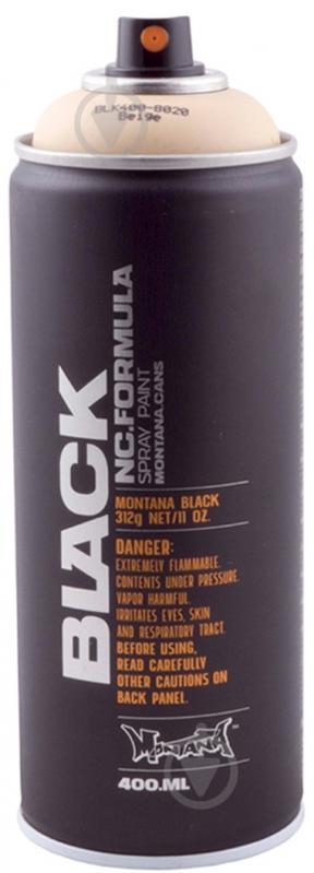 Краска аэрозольная Montana BLACK 8020 бежевий мат 400 мл - фото 1