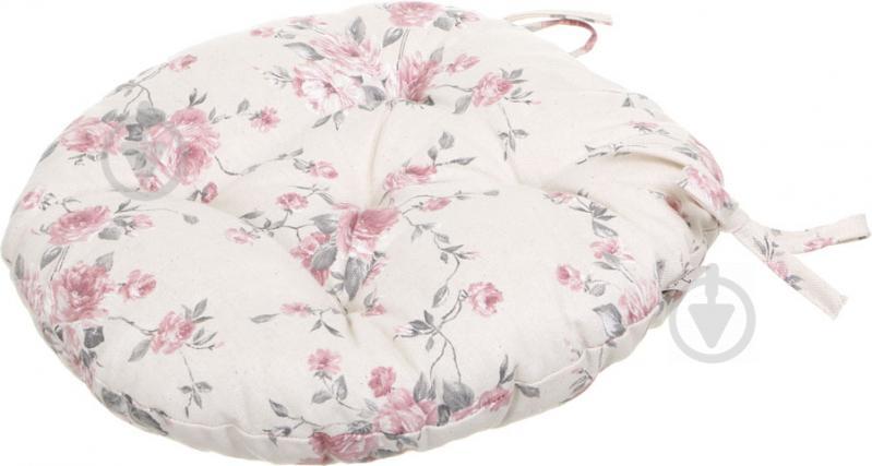 Подушка на стілець Троянди кругла D 40 Прованс - фото 2