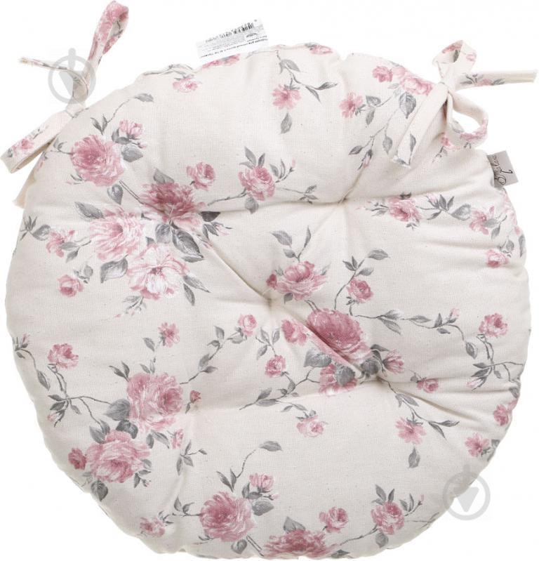 Подушка на стілець Троянди кругла D 40 Прованс - фото 1