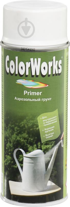 Грунт аэрозольный Primer ColorWorks белый 400 мл - фото 1
