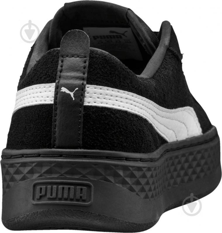 Кеды Puma Smash Platform SD 36648802 р. 6,5 черный - фото 4