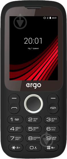 Мобільний телефон Ergo F242 Turbo Dual Sim black - фото 1