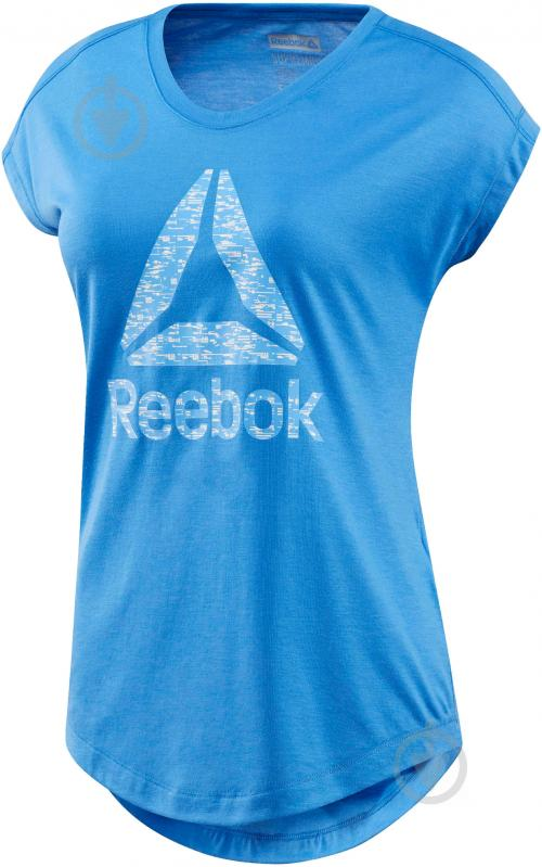 Футболка Reebok Workout Ready Supremium р. XL голубой BK6413 - фото 1