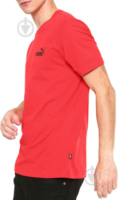 Футболка Puma Essentials Tee р. L красный 85174105 - фото 2
