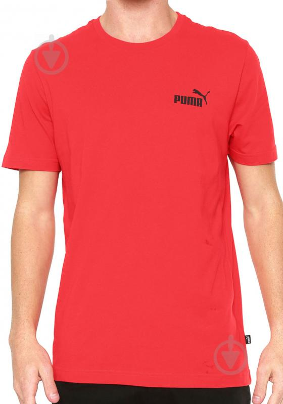 Футболка Puma Essentials Tee р. L красный 85174105 - фото 1
