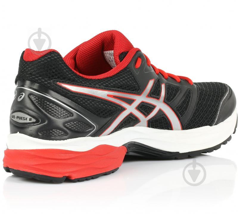 Кросівки Asics GEL-PULSE 8 T6E1N-9023 р.10.5 чорно-червоний - фото 3