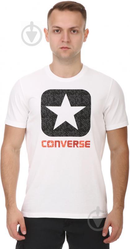 Футболка Converse Texture Boxstar Fill Tee 10003677-102 M белый - фото 1