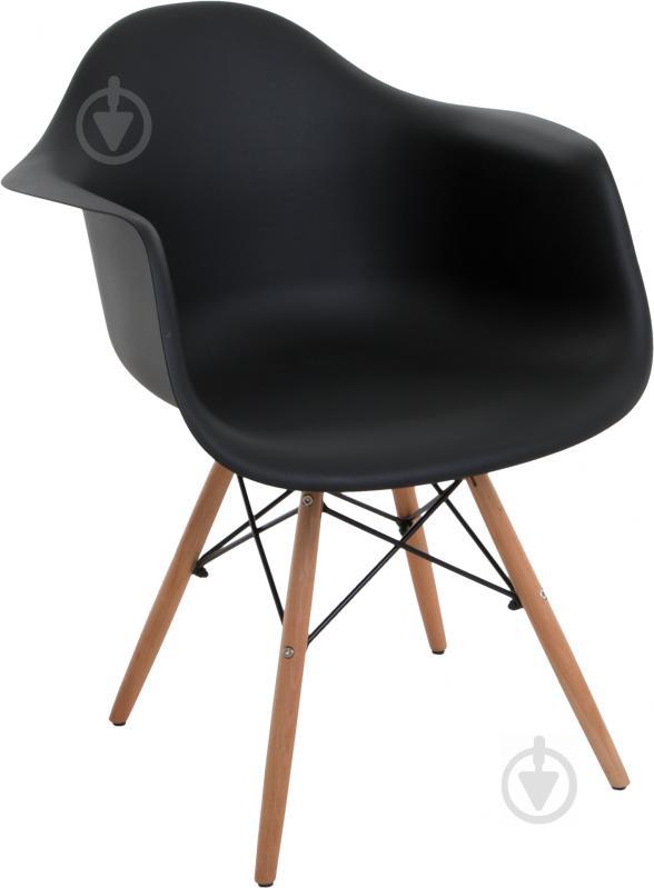 Стул Style black с подлокотниками - фото 1