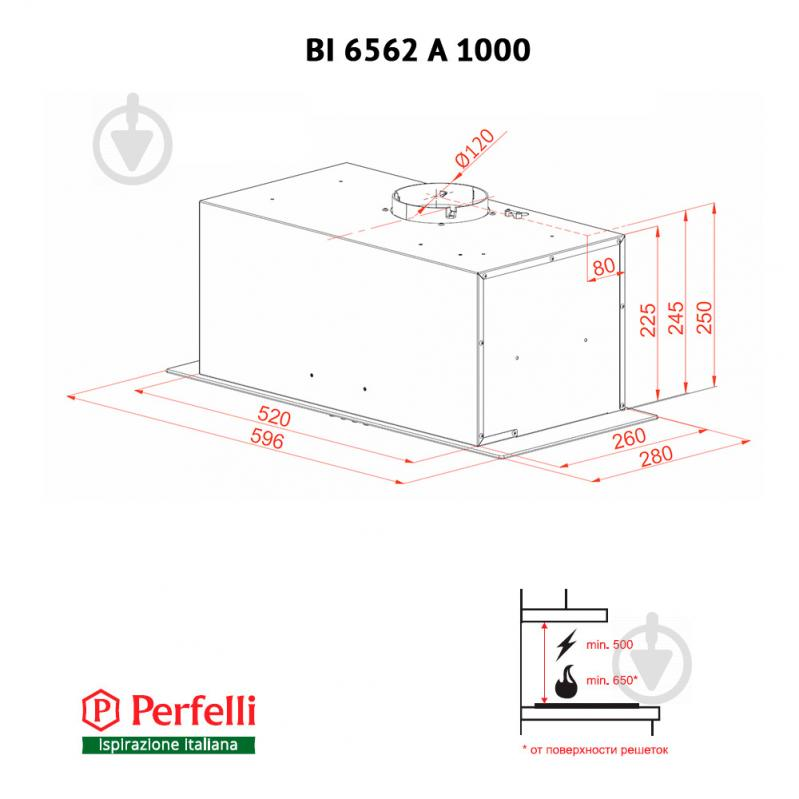Витяжка Perfelli BI 6562 A 1000 BL LED Glass - фото 8