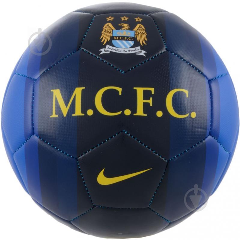 Футбольний м'яч  Nike SC2420-447 Manchester City Pitch р. 5 - фото 1