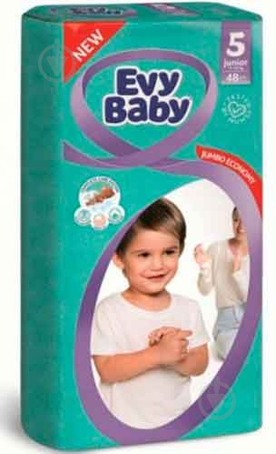 Підгузки Evy Baby Джуніор Джамбо упаковка 11-25 кг 48 шт. - фото 1