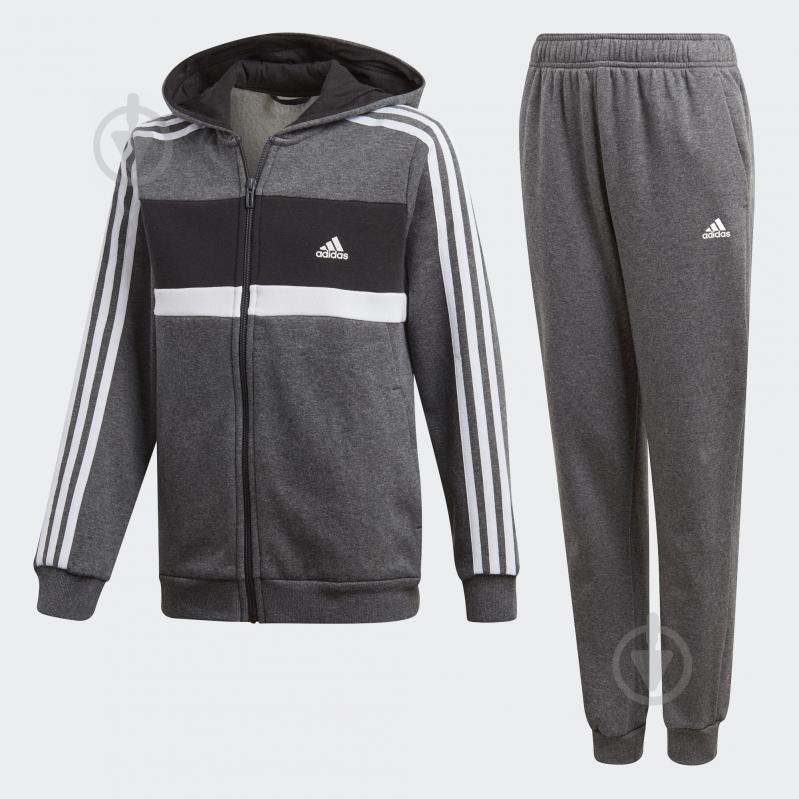Костюм Adidas YB COTTON TS CH DN6908 р. 170 серый - фото 1