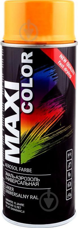 Емаль Maxi Color аерозольна універсальна декоративна RAL 1028 динно-жовтий глянець 400 мл - фото 1