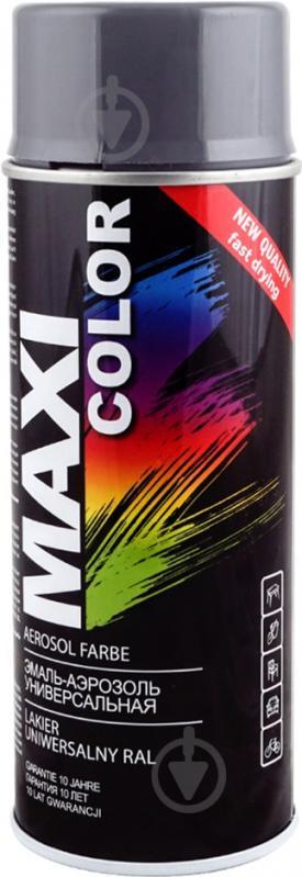 Эмаль Maxi Color аэрозольная универсальная декоративная RAL 7024 графитовый серый глянец 400 мл - фото 1