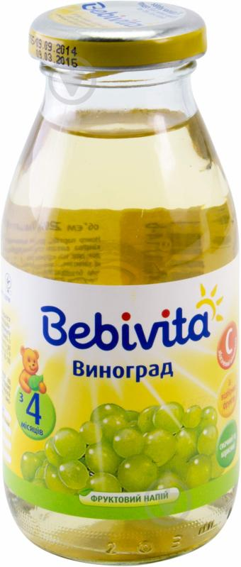 Фруктовый напиток Bebivita Виноград 200 мл 9007253103459 - фото 1
