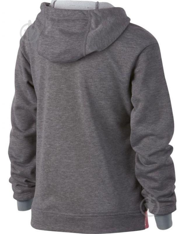 Джемпер Nike G NK DRY HOODIE FZ STUDIO р. L серый 939533-091 - фото 2