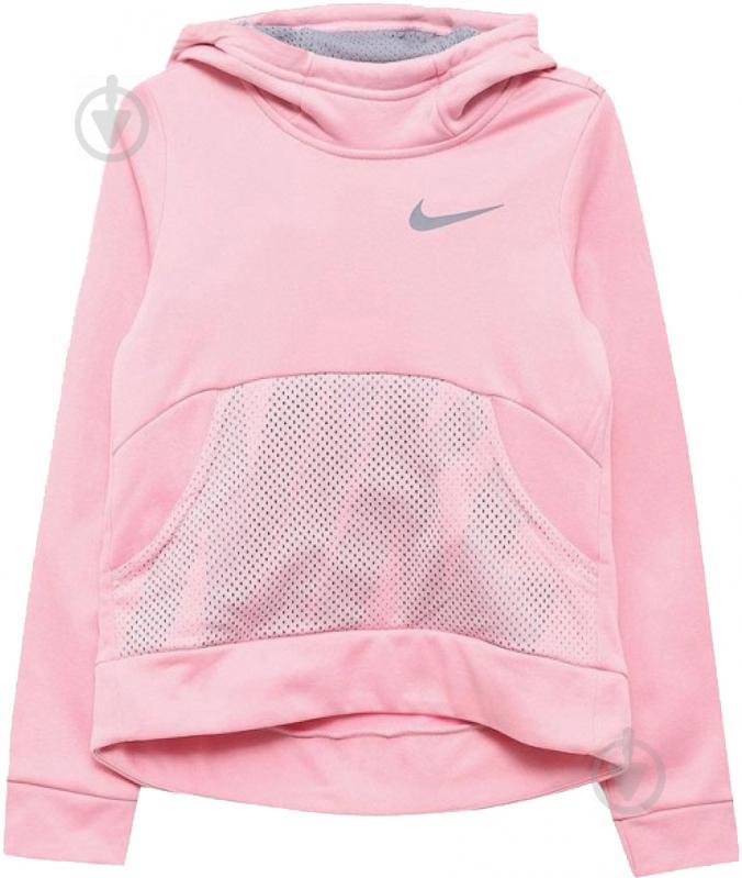Джемпер Nike G NK THERMA HOODIE PO ENERGY р. L красный 939536-654 - фото 1