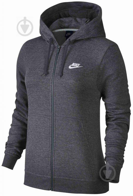 Джемпер Nike W NSW HOODIE FZ FLC р. L черный 853930-071 - фото 1