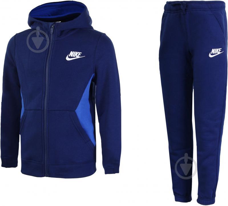 Костюм Nike B NSW TRK SUIT BF CORE 939626-478 р. L синий - фото 1