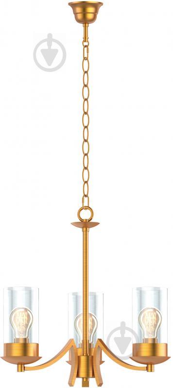 Люстра подвесная Victoria Lighting 3x60 Вт E27 матовое золото Cassandra/SP3 - фото 1
