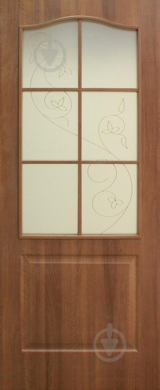 Дверне полотно ОМіС Класика ЗС+КР 800 мм вільха європейська - фото 1