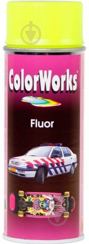 Фарба аерозольна для маркування флуоресцентна Motip жовтий 400 мл - фото 1