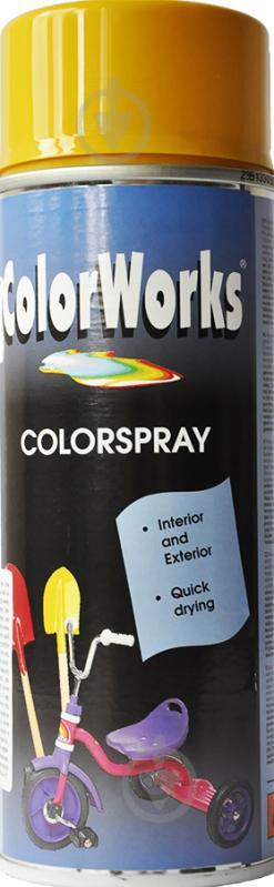Эмаль аэрозольная RAL 1004 ColorWorks золотисто-желтый 400 мл - фото 1