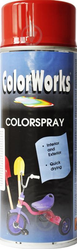 Емаль аерозольна RAL 3000 ColorWorks вогняно-червоний 400 мл - фото 1