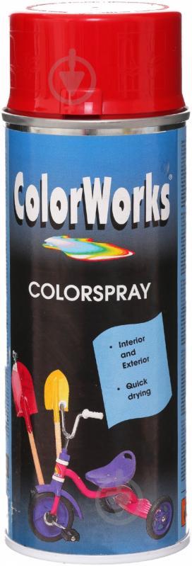 Эмаль аэрозольная RAL 3002 ColorWorks сигнально-красный 400 мл - фото 1