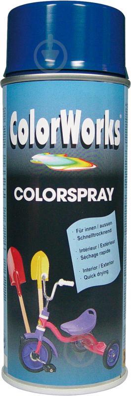 Эмаль аэрозольная RAL 5002 ColorWorks синий 400 мл - фото 1