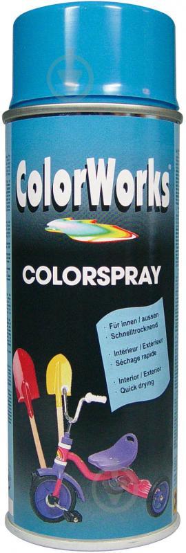 Емаль аерозольна RAL 5015 ColorWorks світло-блакитний 400 мл - фото 1