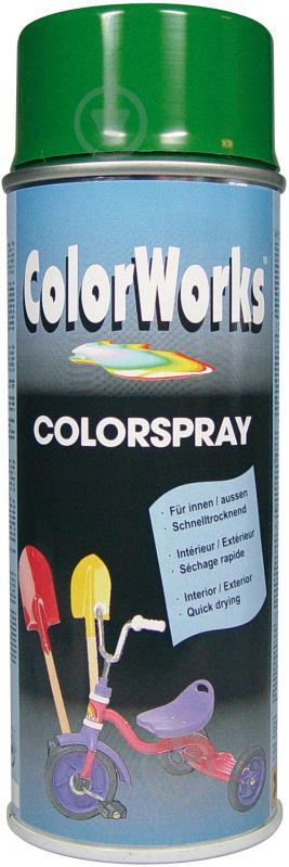 Емаль аерозольна RAL 6002 ColorWorks світло-зелений 400 мл - фото 1