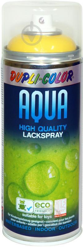 Эмаль аэрозольная Dupli-Color Aqua RAL 1023 ярко-желтый глянец 350 мл - фото 1
