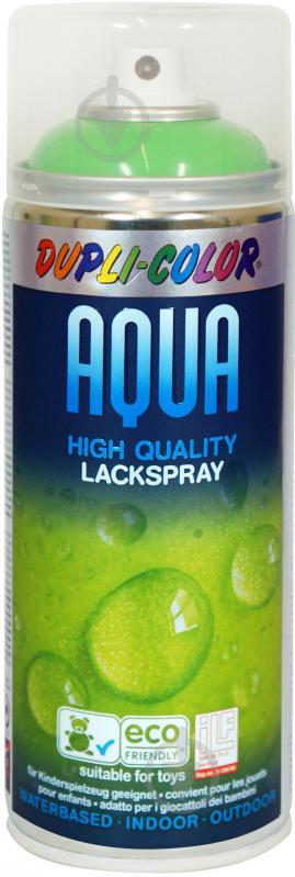 Емаль аерозольна Dupli-Color Aqua RAL 6018 світло-зелений глянець 350 мл - фото 1