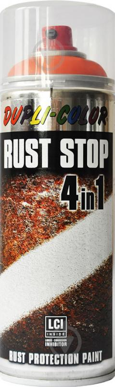 Емаль аерозольна Rust Stop 4 в 1 RAL 2004 Dupli-Color помаранчевий 400 мл - фото 1