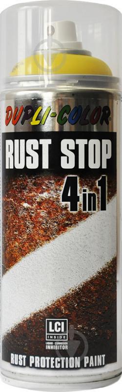 Эмаль аэрозольная Dupli-Color Rust Stop 4 в 1 RAL 1021 желтый мат 400 мл - фото 1