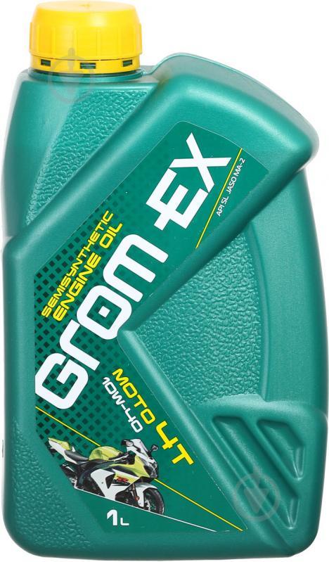 Моторное масло Grom-Ex МОТО 4Т 10W-40 1 л