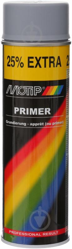 Грунт аэрозольный Primer Motip серый 500 мл - фото 1
