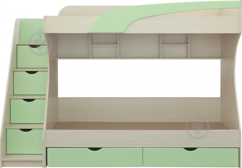Ліжко двох'ярусне Пєхотін Кадет 80x190 см молочний/фісташковий - фото 1