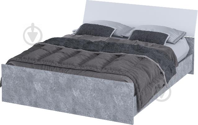 Ліжко Aqua Rodos Hennessy 160x200 см сірий - фото 1
