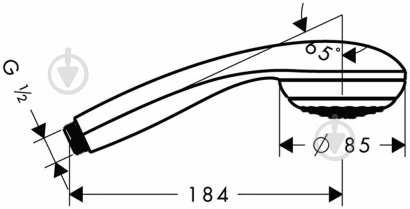 Ручний душ Hansgrohe Crometta 85 28585000 - фото 2