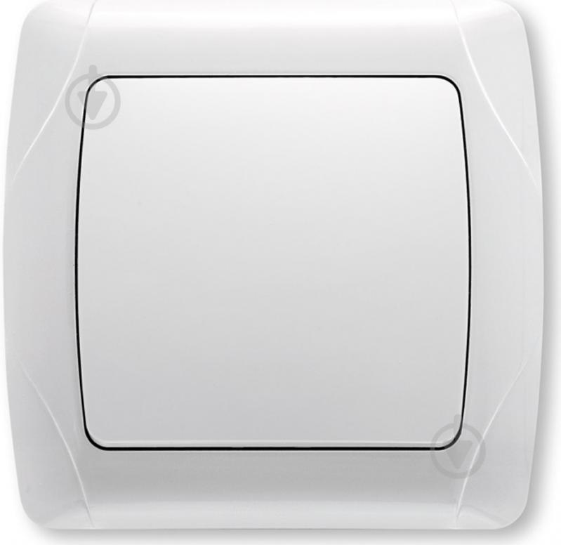 Вимикач одноклавішний Viko CARMEN без підсвітки 10 А 250В IP20 білий 90569101 - фото 1