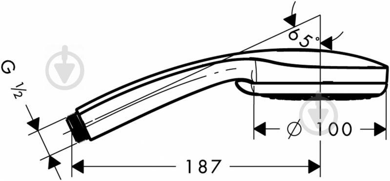 Ручний душ  HANSGROHE Croma 100 Vario 28535000 - фото 2