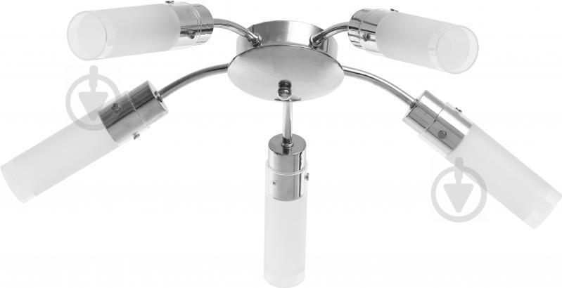 Люстра потолочная Accento lighting Trinity 5x60 Вт E14 хром ALHu-HKC31606-5CH - фото 1