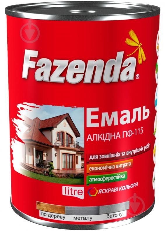 Емаль Fazenda алкідна ПФ-115 білий глянець 2,8 кг