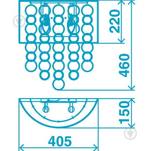 Бра Victoria Lighting 2x40 Вт E14 хром Emilia/AP2 - фото 2