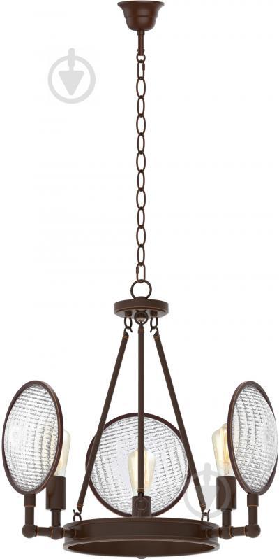 Люстра подвесная Victoria Lighting 3xE27 коричневый Dorian/SP3 - фото 1