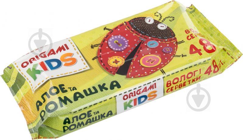 Вологі серветки Origami  Дитячі алое та ромашка 48 шт. - фото 2