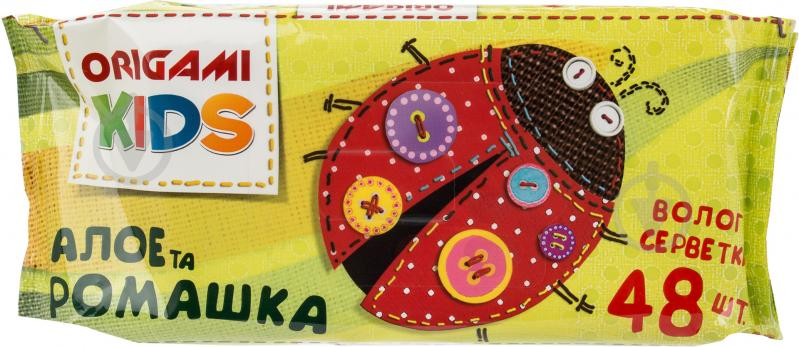 Вологі серветки Origami  Дитячі алое та ромашка 48 шт. - фото 1