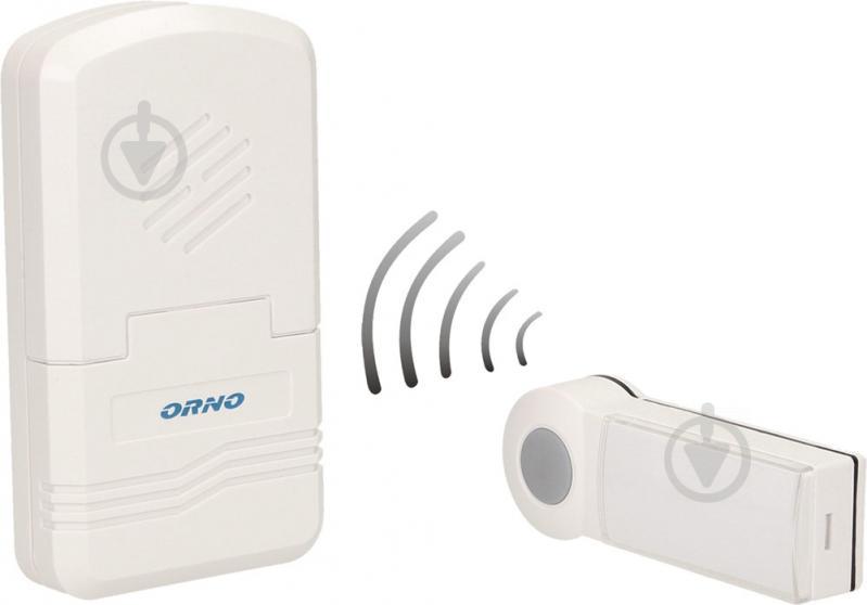 Дзвінок бездротовий Emos Disco DC на акумуляторі із системою навчання білий OR-DB-KH-122